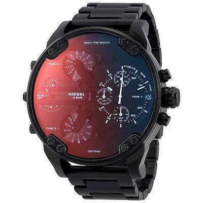 DIESEL Mr. Daddy 2.0 Black Dial Men's Chronograph Watch men watch analog Watches-Direct-SA