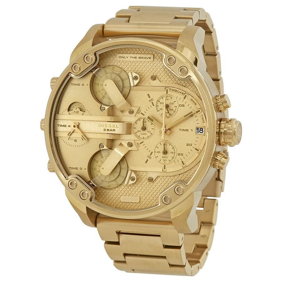 DIESEL Mr. Daddy 2.0 Gold Tone Dial Men's Chronograph Watch men watch analog Watches-Direct-SA