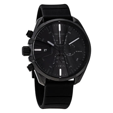 DIESEL MS9 Chronograph Quartz Black Dial Men's Watch men watch analog Watches-Direct-SA