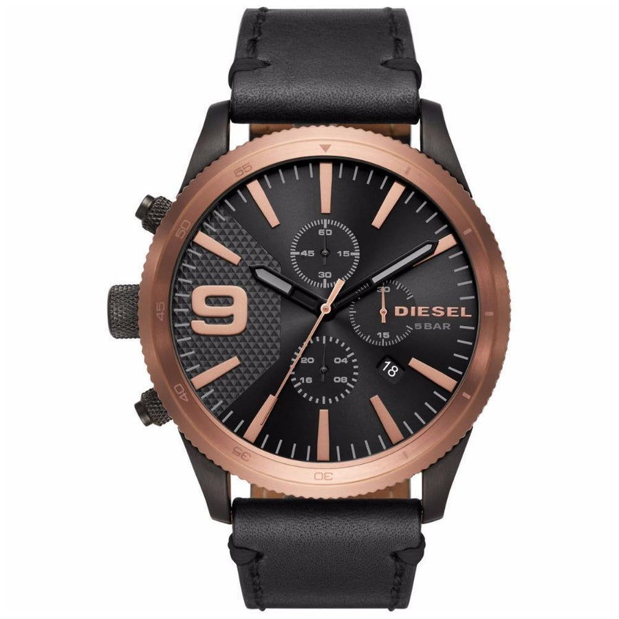 DIESEL Rasp Chronograph Black Dial Men's Watch men watch analog Watches-Direct-SA