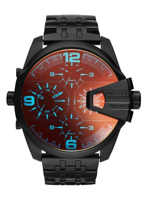 DIESEL Uber Chief Black Dial Men's Dual Time Watch men watch analog Watches-Direct-SA