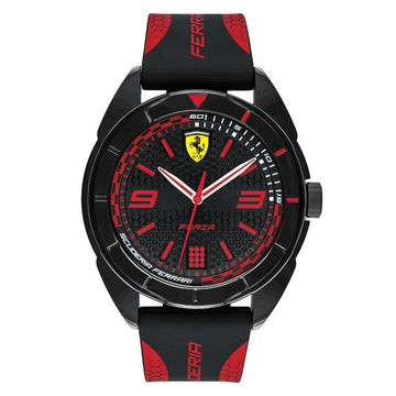 Ferrari Forza, Japanese Quartz, Plastic case and Silicone Strap Casual Watch men watch analog Watches-Direct-SA