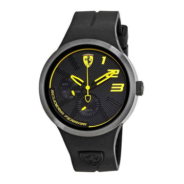 Ferrari FXX Black and Yellow Dial Men's Watch men watch analog Watches-Direct-SA