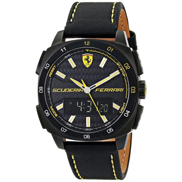Ferrari Men's Aero Evo Analog-Digital Display Black Watch men watch ana-digi Watches-Direct-SA