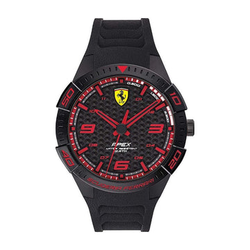 Ferrari Men's APEX Quartz Watch with Silicone BlackStrap men watch analog Watches-Direct-SA