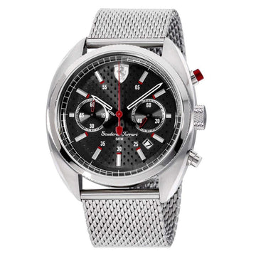 Ferrari Men's Formula Sportiva Analog Display Quartz Silver Watch men watch analog Watches-Direct-SA