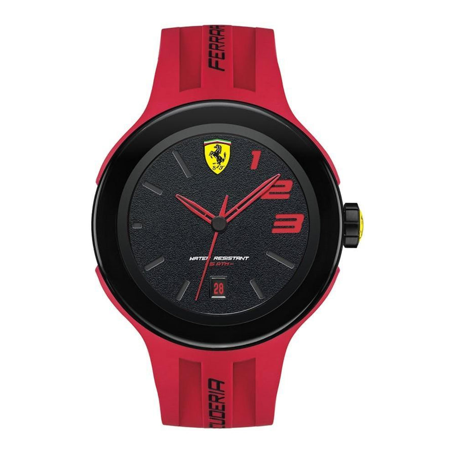 Ferrari Men's FXX Logo-Accented Watch with Red Band men watch analog Watches-Direct-SA