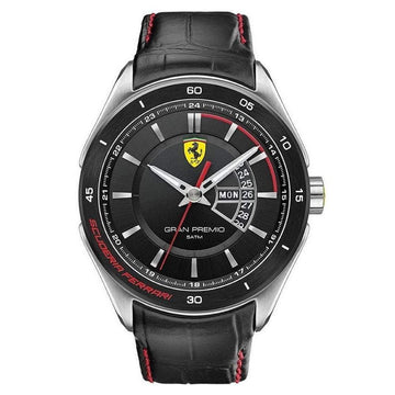 Ferrari Men's Gran Premio Analog Display Quartz Black Watch men watch analog Watches-Direct-SA