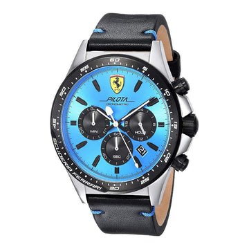 Ferrari Men's Pilota Stainless Steel Quartz Watch 0830388 men watch analog Watches-Direct-SA