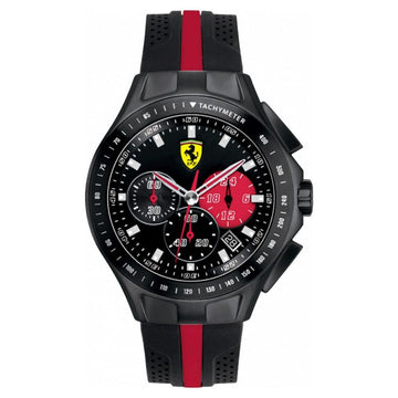 Ferrari Men's Race Day Analog Display Quartz Black Watch men watch analog Watches-Direct-SA
