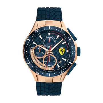 Ferrari Men's Race Day Stainless Steel Quartz Watch with Silicone Navy Blue Strap men watch analog Watches-Direct-SA