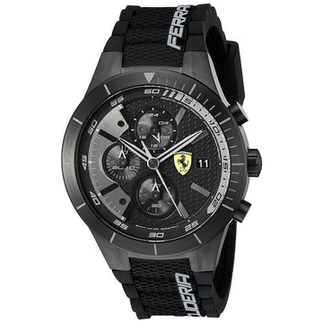 Ferrari Men's REDREV EVO Analog Display Japanese Quartz Black Watch men watch analog Watches-Direct-SA