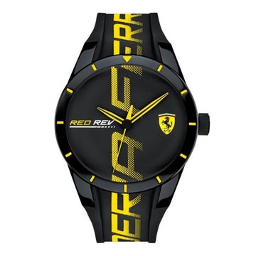 Ferrari Men's RedRev Quartz Plastic and Silicone Strap Casual Watch men watch analog Watches-Direct-SA