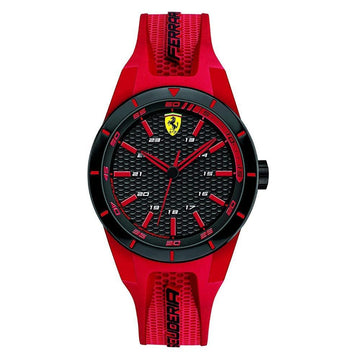 Ferrari Men's RedRev Stainless Steel Quartz Watch with Rubber Strap men watch analog Watches-Direct-SA