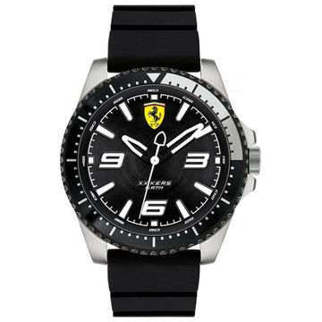 Ferrari Men's XX KERS Stainless Steel Quartz Watch with Silicone Strap men watch analog Watches-Direct-SA