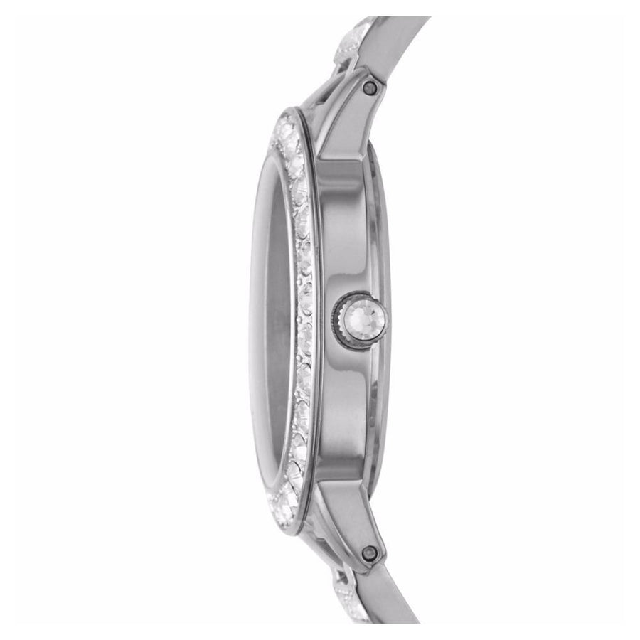 Fossil Jesse Silver Crystals White Dial Women's Watch women watch analog Watches-Direct-SA
