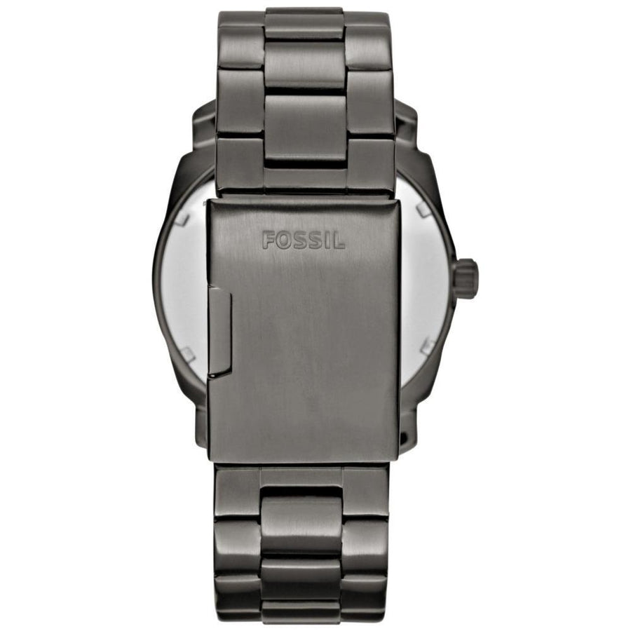 Fossil Machine Black Dial Smoke IP Stainless Steel Men's Watch FS4774 men watch analog Watches-Direct-SA