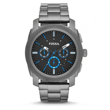 Fossil Machine Quartz Chronograph Black Dial Gunmetal Ion-Plated Men's Watch men watch analog Watches-Direct-SA