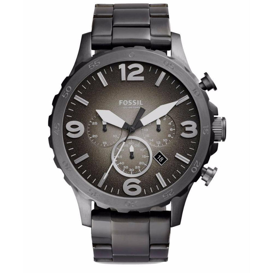 Fossil Nate Chronograph Smoke Grey Dial Men's Watch men watch analog Watches-Direct-SA
