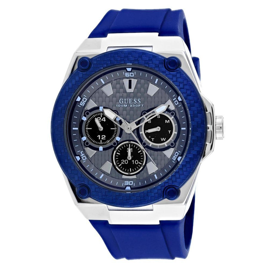 GUESS Legacy Blue Dial Blue Silicone Men's Watch men watch analog Watches-Direct-SA