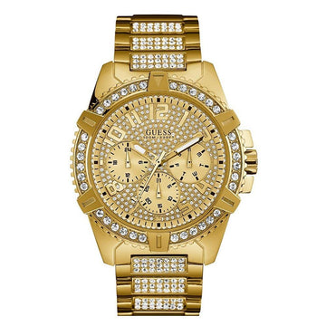 GUESS Men's Stainless Steel Crystal Dress Watch men watch analog Watches-Direct-SA