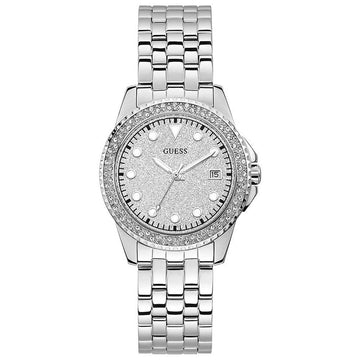 GUESS Spritz Quartz Crystal Silver Dial Ladies Watch women watch analog Watches-Direct-SA