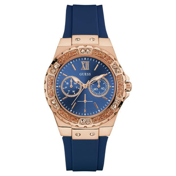 GUESS Women's stainless steel & stain resistant silicone watch women watch analog Watches-Direct-SA