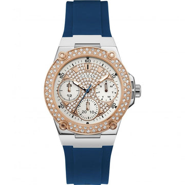 GUESS Zena White Sunray Glitz Dial Ladies Multifunction Watch women watch analog Watches-Direct-SA