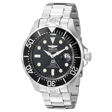 INVICTA Grand Diver Black Diver Stainless Steel Men's Watch men watch analog Watches-Direct-SA