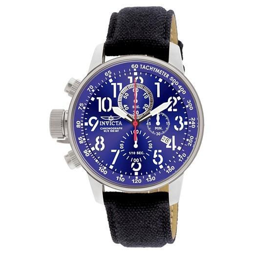INVICTA Lefty Force Chronograph Blue Dial Stainless Steel Men's Watch men watch analog Watches-Direct-SA
