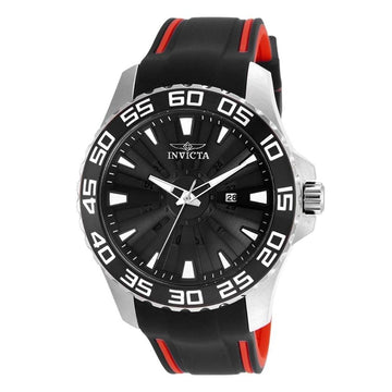 INVICTA Pro Diver Black Dial Men's Rubber Watch men watch analog Watches-Direct-SA