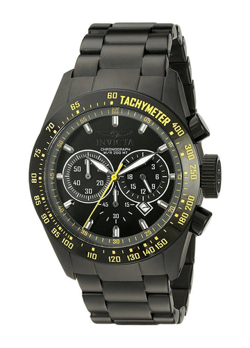 INVICTA Speedway Chronograph Black Dial Black Ion-plated Men's Watch men watch analog Watches-Direct-SA