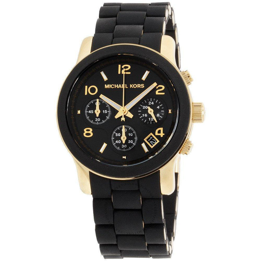 MICHAEL KORS Black Catwalk Chronograph Watch women watch analog Watches-Direct-SA