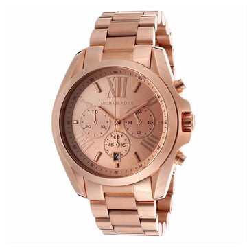 MICHAEL KORS Bradshaw Oversize Chronograph Rose Gold-tone Ladies Watch women watch analog Watches-Direct-SA