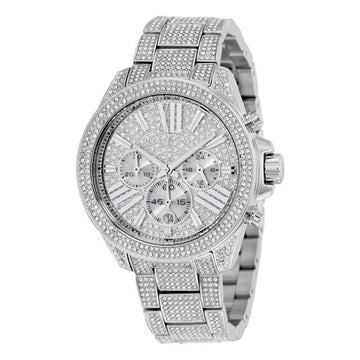MICHAEL KORS Chronograph Crystal Pave Dial Ladies Watch women watch analog Watches-Direct-SA
