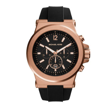 MICHAEL KORS Dylan Chronograph Black Dial Black Rubber Unisex Watch unisex watch analog Watches-Direct-SA