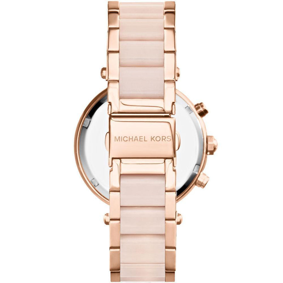MICHAEL KORS Parker Mini Multi-Function Rose Dial Rose Gold-tone and Blush women watch analog Watches-Direct-SA