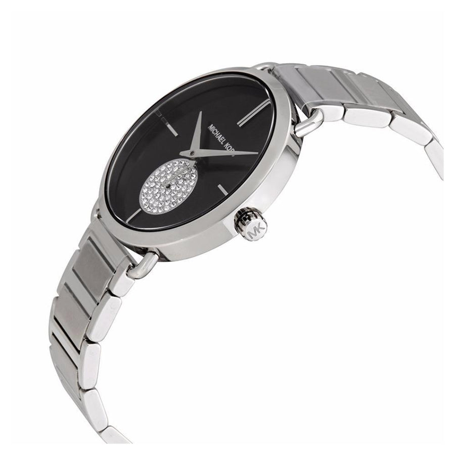 MICHAEL KORS Portia Black Dial Stainless Steel Ladies Watch women watch analog Watches-Direct-SA