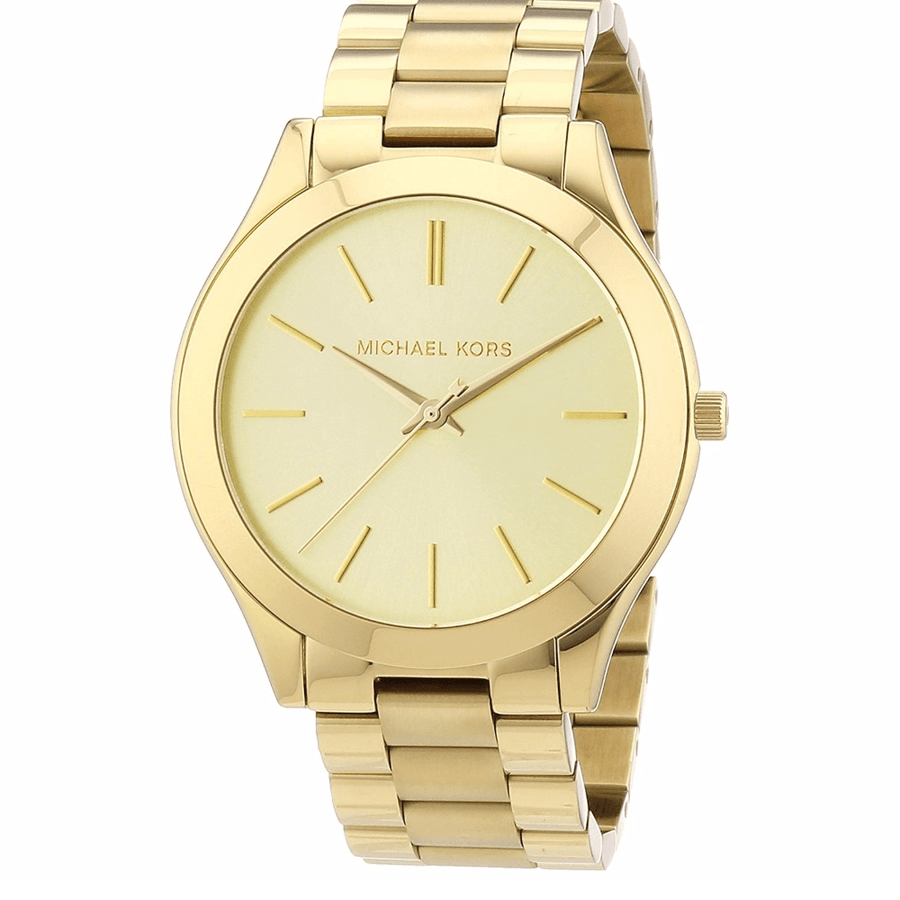 Michael Kors Runway Champagne Dial Ladies Watch women watch analog Watches-Direct-SA