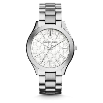 MICHAEL KORS Runway Silver Dial Stainless Steel Ladies Watch women watch analog Watches-Direct-SA