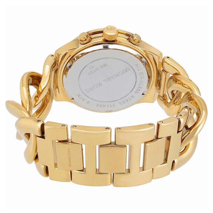 Michael Kors Runway Twist Chronograph Gold-tone Ladies Watch women watch analog Watches-Direct-SA