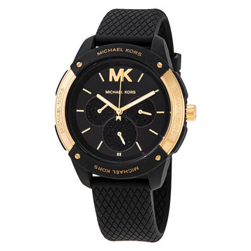 MICHAEL KORS Ryder Crystal Quartz Black Dial Unisex Watch women watch analog Watches-Direct-SA