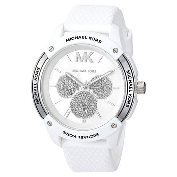 MICHAEL KORS Ryder Crystal Quartz White Dial Unisex Watch unisex watch analog Watches-Direct-SA