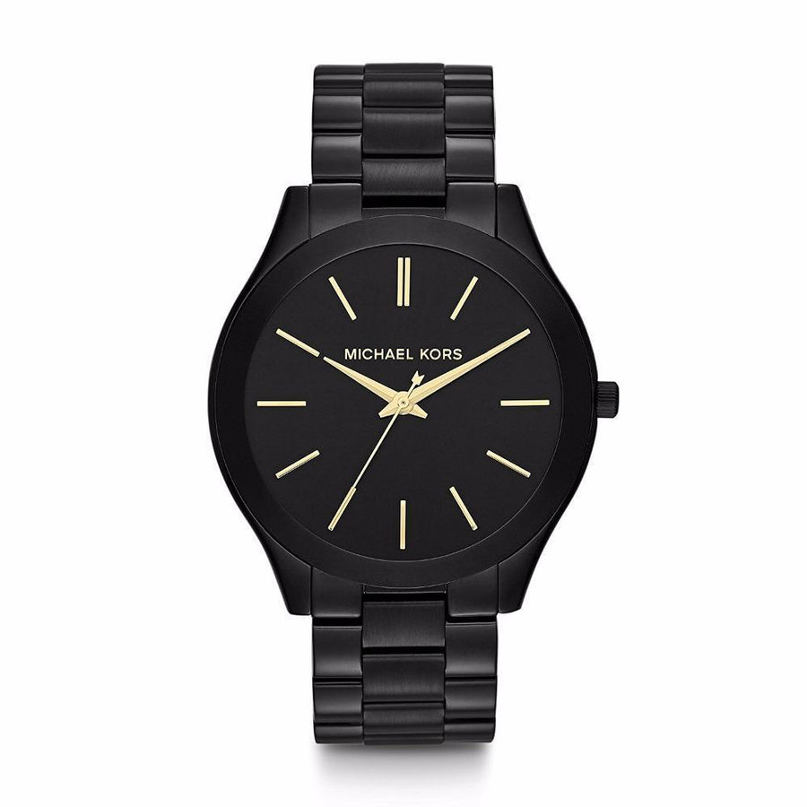 MICHAEL KORS Slim Runway Black Dial Black Ion-plated Unisex Watch women watch analog Watches-Direct-SA