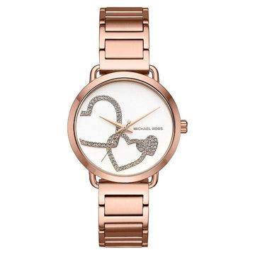 Michael Kors Women's Portia Analog Display Analog Quartz Rose Gold Watch women watch analog Watches-Direct-SA
