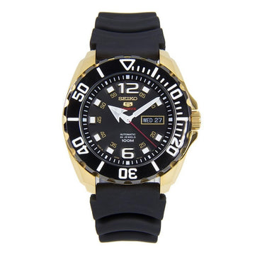 SEIKO 5 Automatic Black Dial Men's Watch men watch analog Watches-Direct-SA