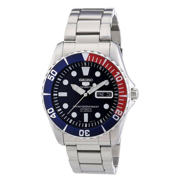 SEIKO 5 Blue Dial Diver Stainless Steel Automatic Men's Watch men watch analog Watches-Direct-SA