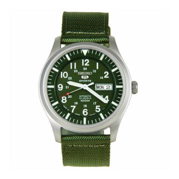 SEIKO 5 Sport Automatic Khaki Green Canvas Men's Watch men watch analog Watches-Direct-SA