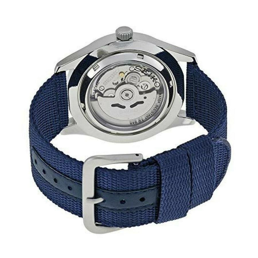 SEIKO 5 Sport Automatic Navy Blue Canvas Men's Watch men watch analog Watches-Direct-SA