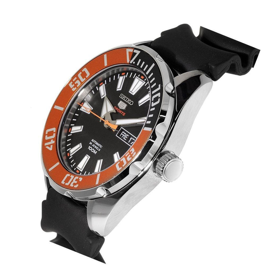 SEIKO 5 Sports Automatic Black Dial Men's Watch men watch analog Watches-Direct-SA